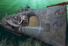 เรือดำน้ำ ลำแรกของโลกกลางสมรภูมิ